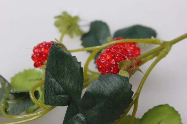 ветка малина с цветочками 30см - искусственные растения