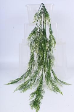 Ветка ниспадающая зелёная h=80см - Искусственное растение