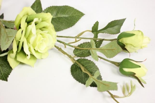 ветка розы 45 см, салатовая sun453