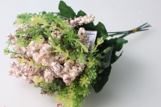 Ветка с персиковыми ягодками (6 шт в уп) KWL244 - искусственные растения для украшения