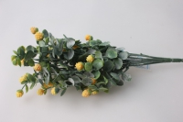 ветка с ягодами 1шт. (розов., белый, желтый, сирень) 7634 цвета в ассортименте