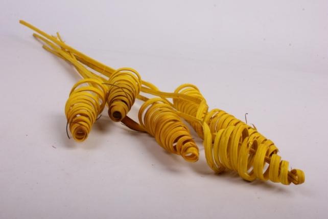 Ветки Конус (ротанг) Желтые (6шт в уп)