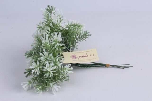 веточка бело-зеленая 17см (6шт в уп)  ava6  9742