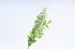Веточка черёмухи с декором белая   LIU 454