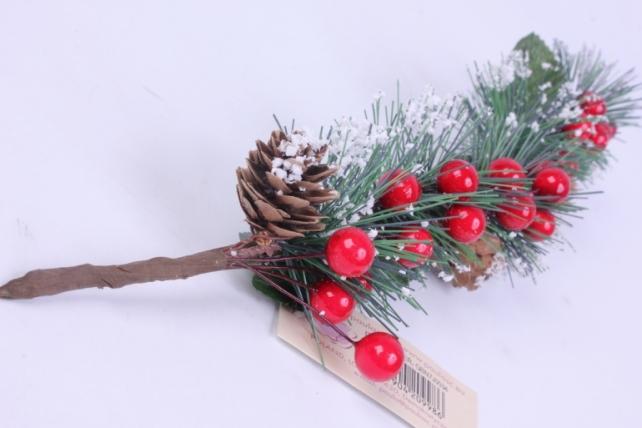 веточка новогодняя 35см gbn7j0034