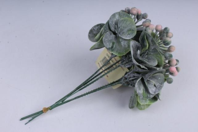 веточка с розовыми ягодками 20см (5шт в уп)  ava165a  8505