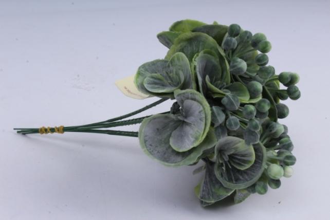 веточка с зелеными ягодками 20см (5шт в уп)  ava165b  8512