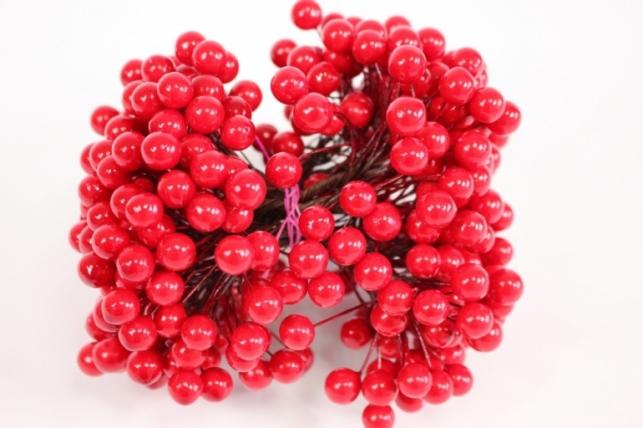 веточка-шарик с ягодками 1см - красная gay301 2224