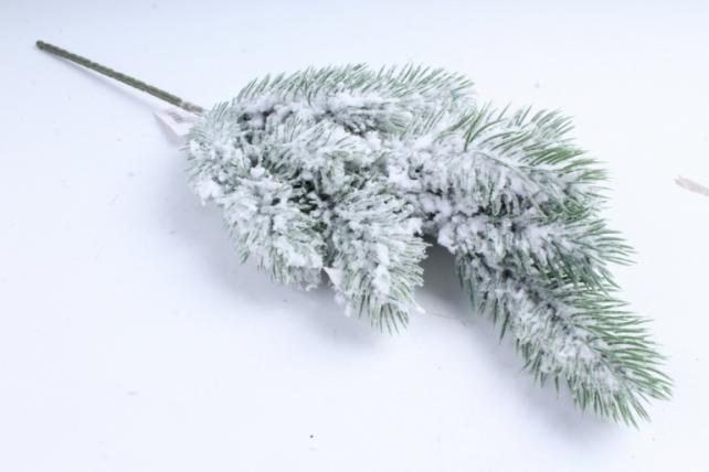 Веточка сосны снежная с блёстками  СН054