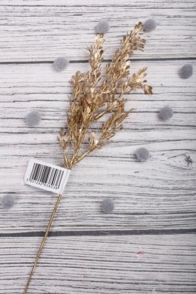 Веточка травы блестящая 32 см золото 831791