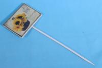 Вставка 30см табличка - Корзина с подсолнухами (1шт)