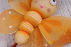 вставка  бабочка большая  (оранжевая, салатовая, желтая) (3шт в уп)  wb1t3256  4149