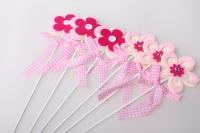 Вставка Цветок розово/малиновый (12 шт. в упаковке)