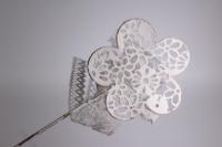Вставка Декоративная - Цветок кружево из металла 30см (6шт. в уп.) - Код 8547
