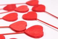 Вставка Декоративная - Сердце красное 11см (12 шт. в уп.) - Код 8996