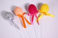 Вставка Декоративная - Яйцо малое флок микс 27см (1шт) - Код 8918