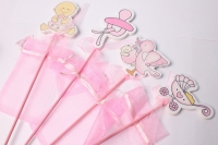Вставка Дети розовые с мешочком (12 шт. в уп.)