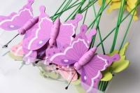 Вставка флористическая бабочка (24шт в упаковке)