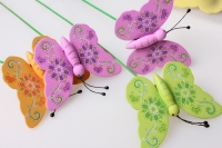 Вставка флористические бабочка (24шт. в упаковке)