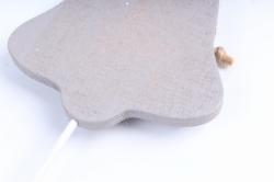 Вставка Колокольчик серый с кружевом (3 шт в уп) DT23GY