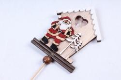 Вставка Новогодняя Дед Мороз с Домиком (1шт)  LHN301