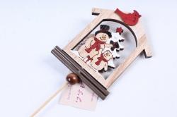 Вставка Новогодняя Снеговик с Медвежонком (1шт)  LHNH303B