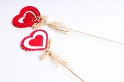 Вставка Сердце с блёстками (2шт в уп) микс 10ZL-055