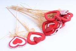 Вставка Сердце с блёстками 10ZL-055