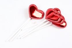 Вставка Сердце красное   (6 шт в уп) H1904046  6935