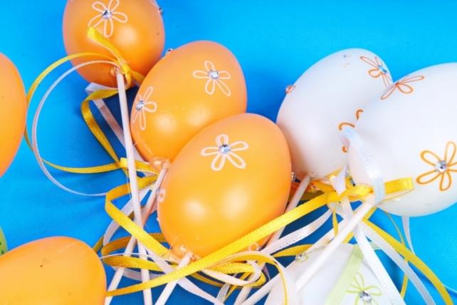 Вставка Яйца 6см микс   (6 шт в уп) BE2017-1B