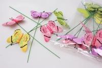 Вставки Бабочки деревянные на пружинке (24 шт. в уп.)
