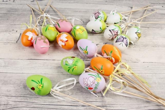 Вставки яйца 6 см  из пластика по 6 шт  998C-1260 MIX PIK