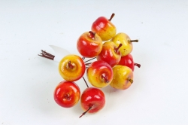 Яблочки по 10 шт,   желто-красные SM2284 YELLOW-RED