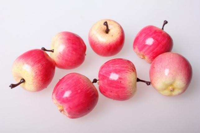 Яблоки желто-красные 3см (1шт)