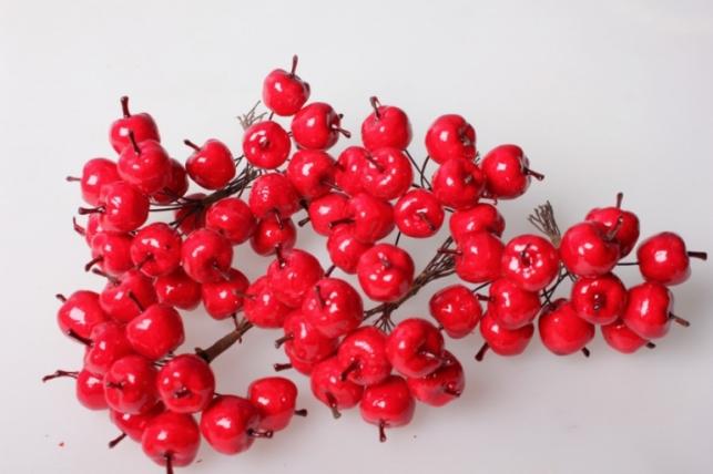 Яблоки красные 2см (12 пучков по 12 шт) 5595 SM8847