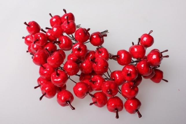 яблоки красные 2см (12 пучков по 12 шт) 5618 sm8850