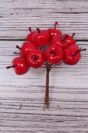 Яблоки красные  3*4см (12 шт)  SM8847  5595. 11см.