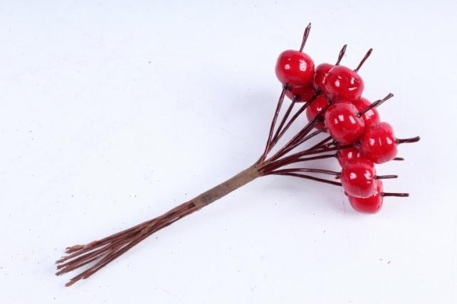 Яблоки ранетки красные 1см (12 шт в уп) TY76-2642