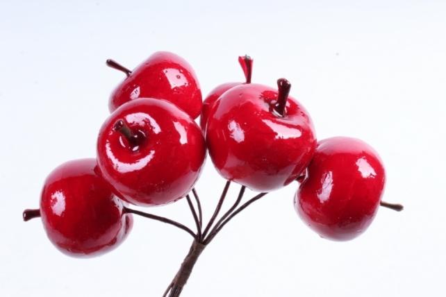 Яблоки ранетки красные 3см (6 шт в уп) TY76-19249