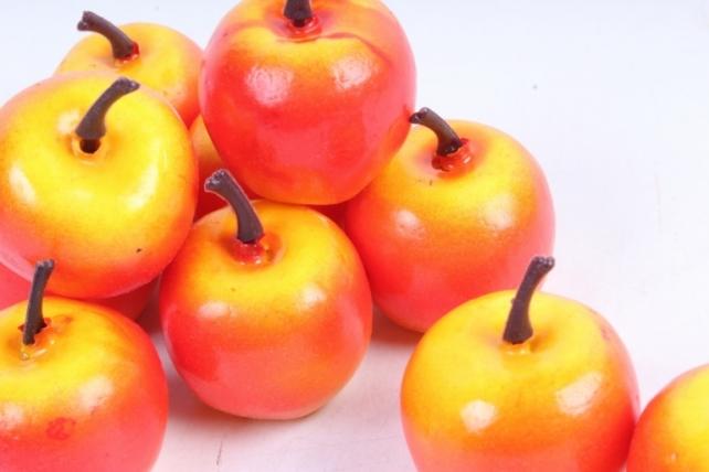 Яблоки в пачке  красно-желт.  (10шт в уп)  9390  HT12А017
