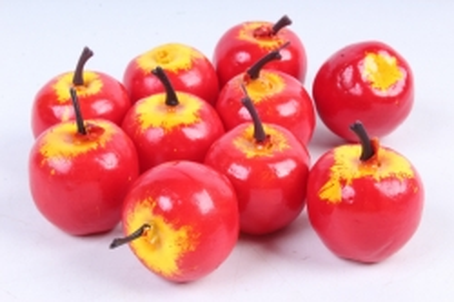 Яблоки в пачке  красные (10шт в уп)  9406  HT12A