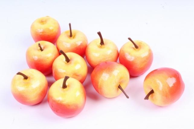Яблоко желто-красное (10шт в уп)