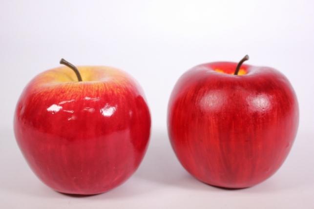 Яблоко искусственное розовое 9см