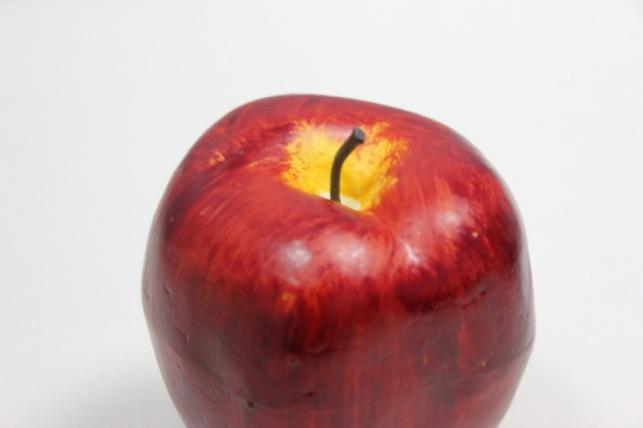 яблоко искусственные бордовое 9см