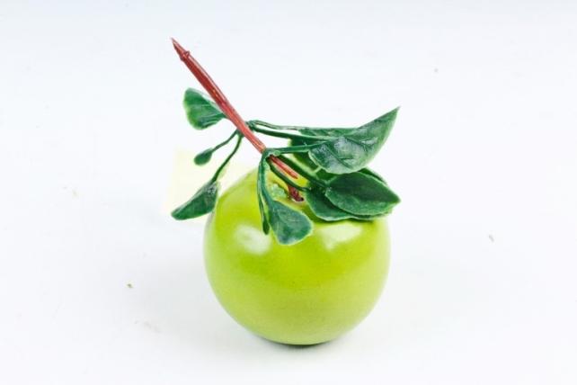 Яблоко на ветке зелёное