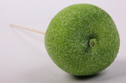 Яблоко засахаренное на вставке, D6x50см, зеленыйRF15106-2