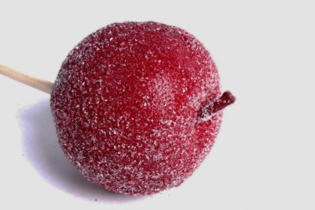 Яблоко засахаренное на вставке, красныйRF151045/1(А)