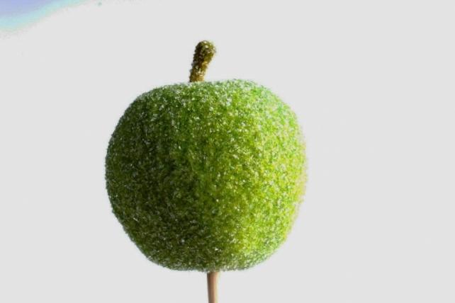 Яблоко засахаренное на вставке, зеленыйRF151045/2(А)