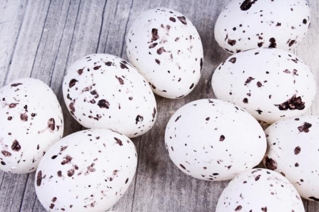 Яйца 3*4 см(12 шт в уп) белые SM-E9003