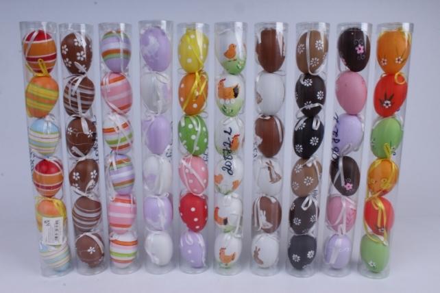 Яйца в тубе 4 см Микс (6 шт в уп)